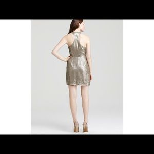 Parker All over Mini Sequin Wrap Dress Multi New 6